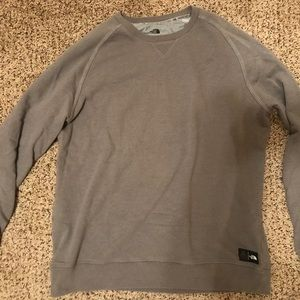 Gray North Face Sweatshirt - Men's